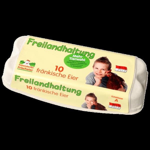 Kasendorfer fränkische Eier Freilandhaltung 10 Stück