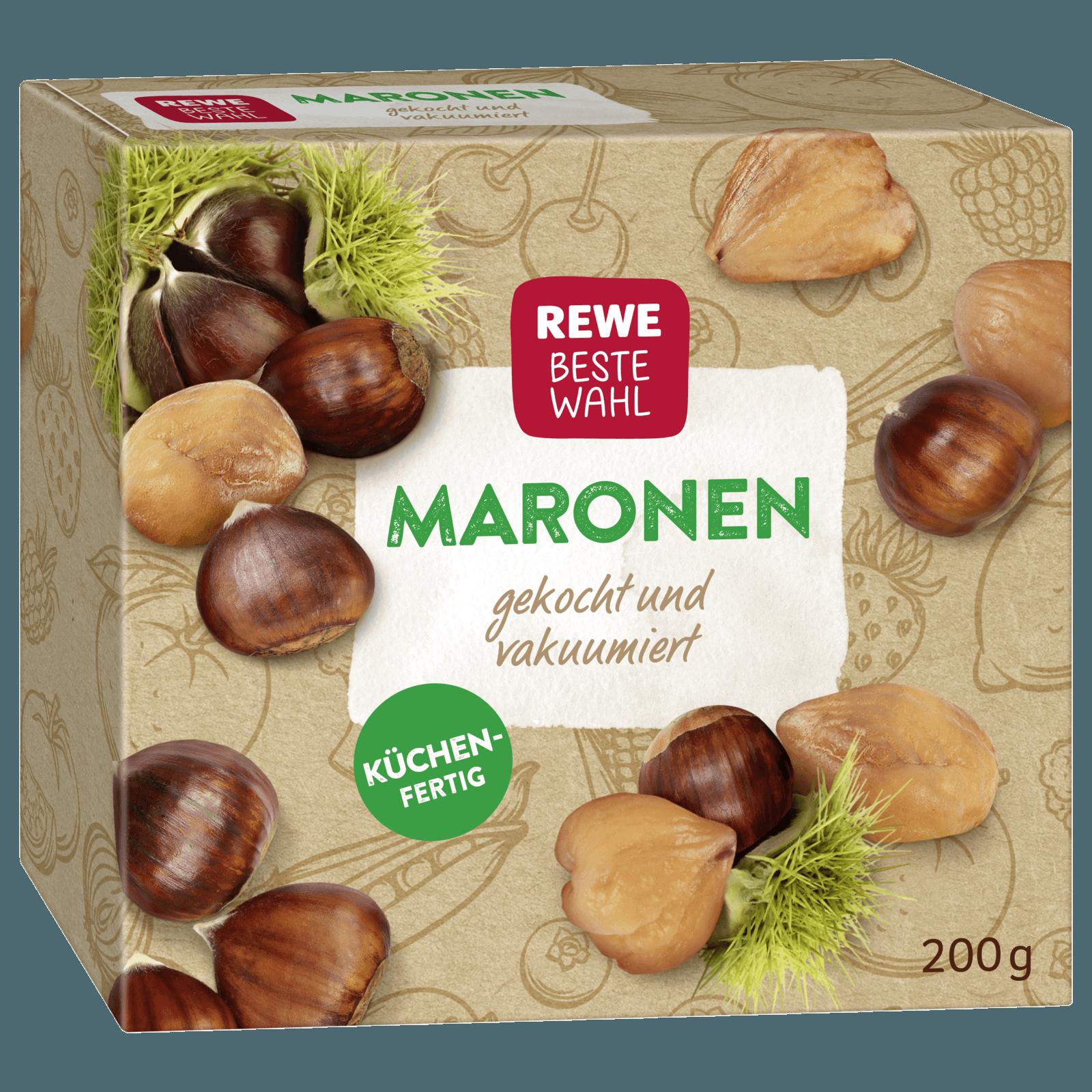 Rewe Beste Wahl Maronen Gekocht Vakuumiert 200g Bei Rewe Online Bestellen