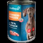 ZooRoyal Hundefutter mit Hühnerherzen 400g