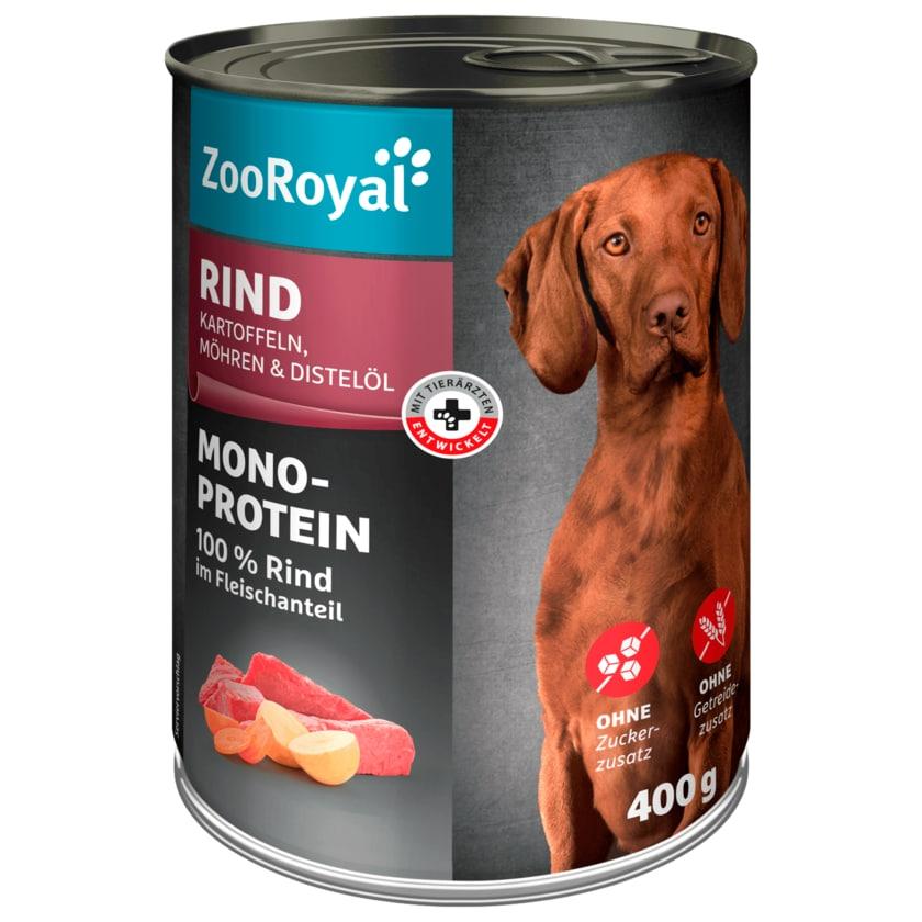 ZooRoyal Rind mit Kartoffeln & Möhren 400g
