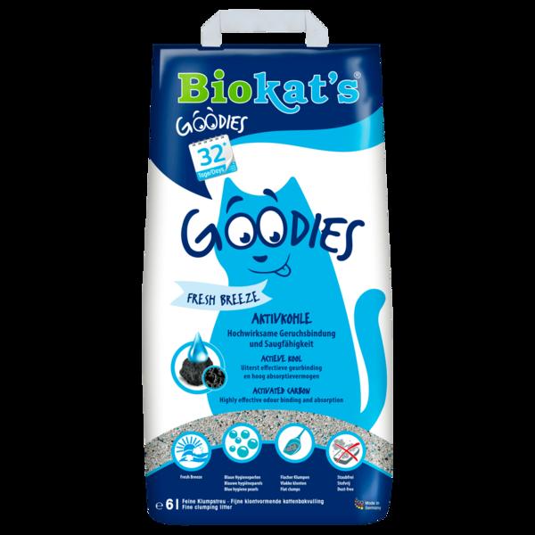 Biokat's Goodies Katzenstreu Fresh Breeze Aktivkohle 6l