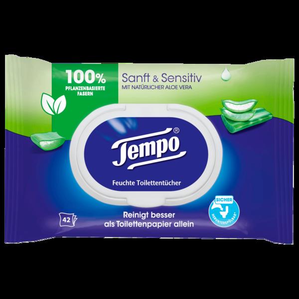 Tempo feuchte Toilettentücher sanft & sensitiv 42 Tücher