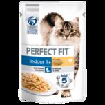 Perfect Fit Katzenfutter Indoor 1+ mit Huhn & Erbsen 85g