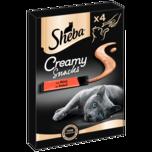 Sheba Creamy Snack Rind 4x12g