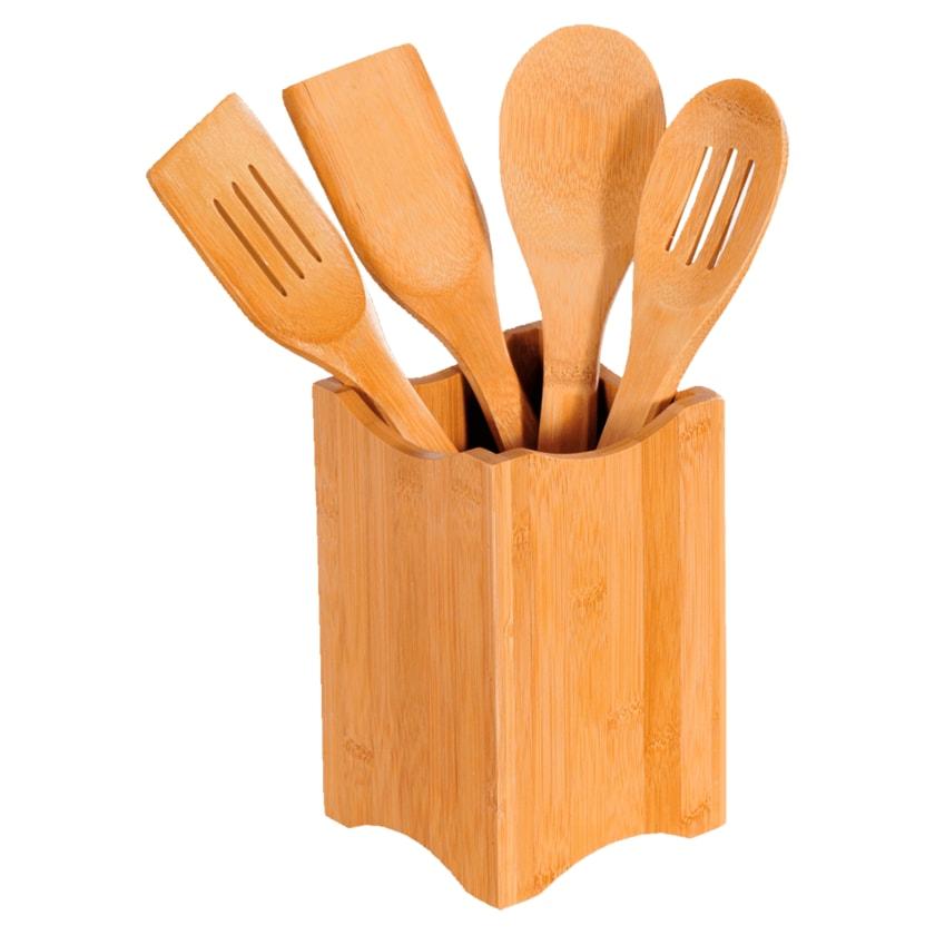 Kesper Küchenhelfer-Set aus FSC®-zertifiziertem Bambus 5-teilig