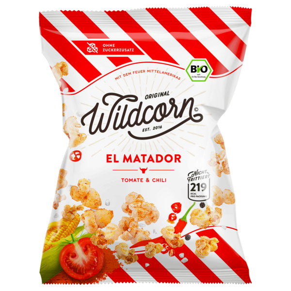 Wildcorn Bio Popcorn El Matador Tomate & Chili 50g