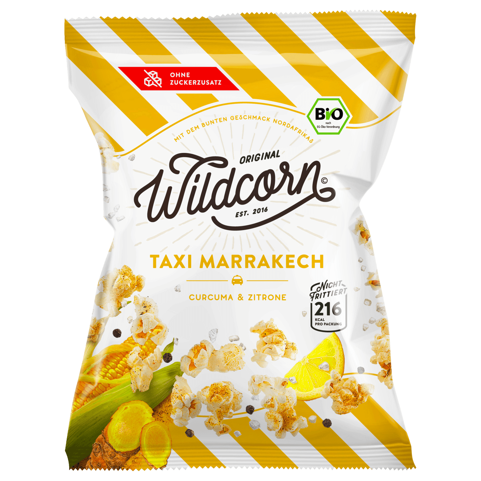 Wildcorn Popcorn Taxi Marrakech Curry & Zitrone 50g
