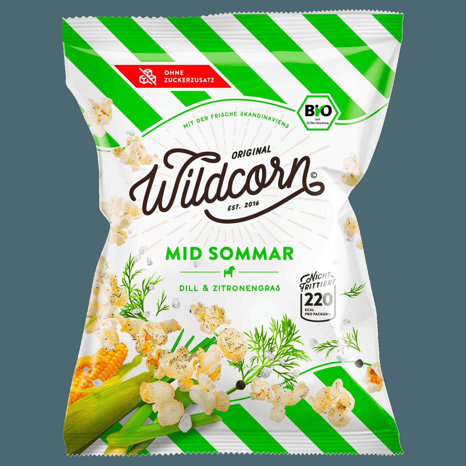 Wildcorn Popcorn Mid Sommar Dill & Zitronengras 50g