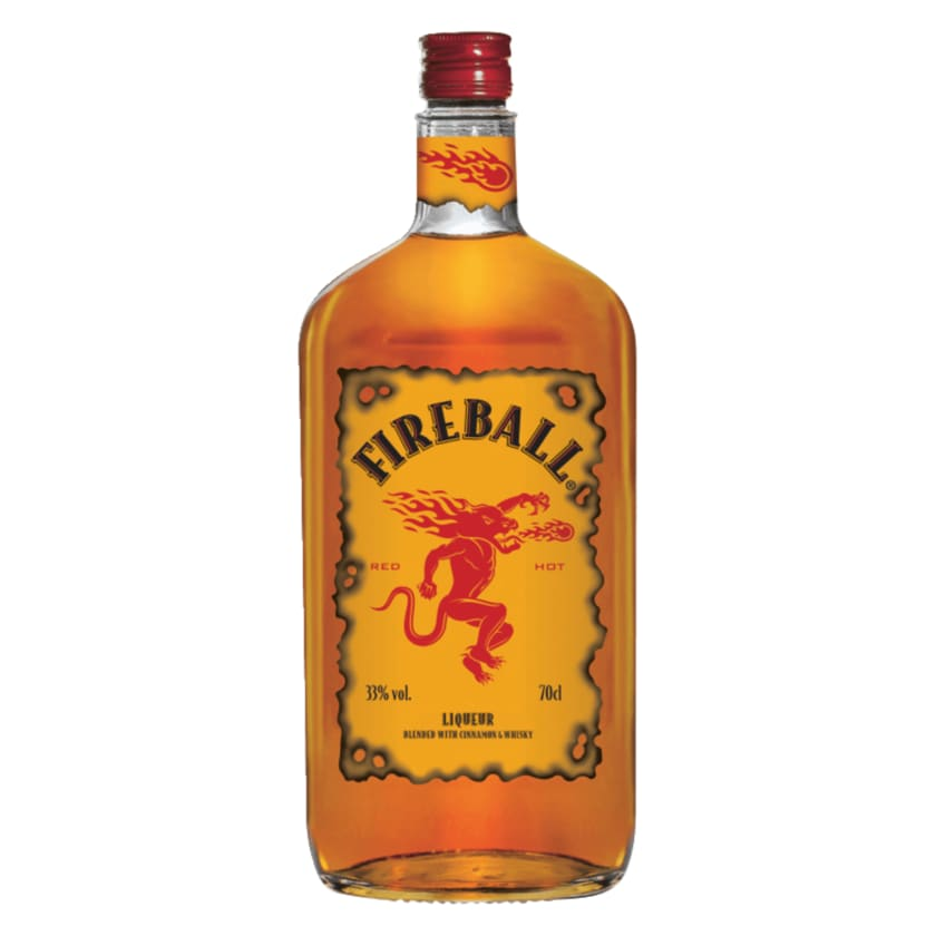 Fireball Liqueur Blended with Cinnamon & Whisky 0,7l