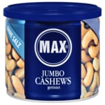 Max Jumbo Cashews geröstet ohne Salz 150g