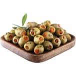 Grüne Mammut Oliven mit Paprika 800g