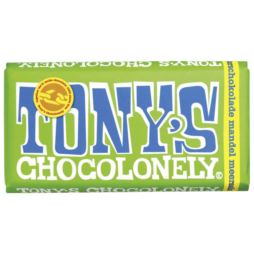Tony's Chocolonely Zartbitterschokolade Mandel Meersalz 180g