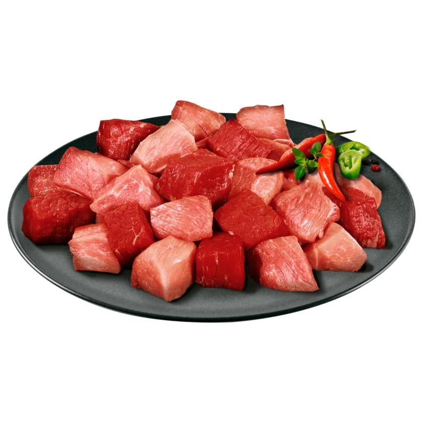 Gulasch gemischt aus Rind & Schwein aus der Keule 100g