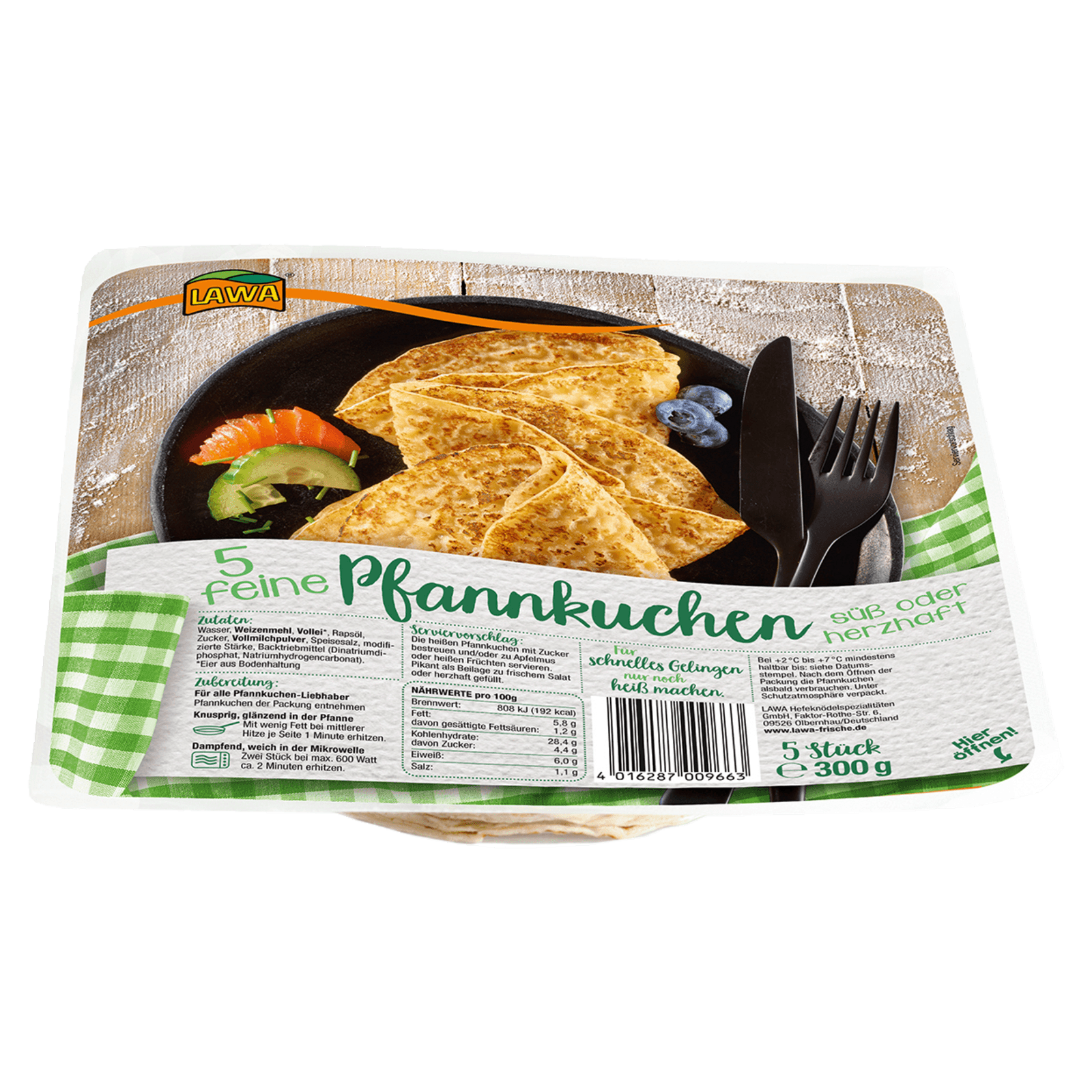 Lawa Feine Pfannkuchen 300g, 5 Stück