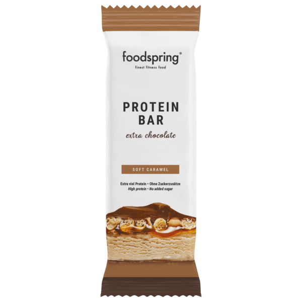 Foodspring Protein Bar extra chocolate Soft Caramel 65g