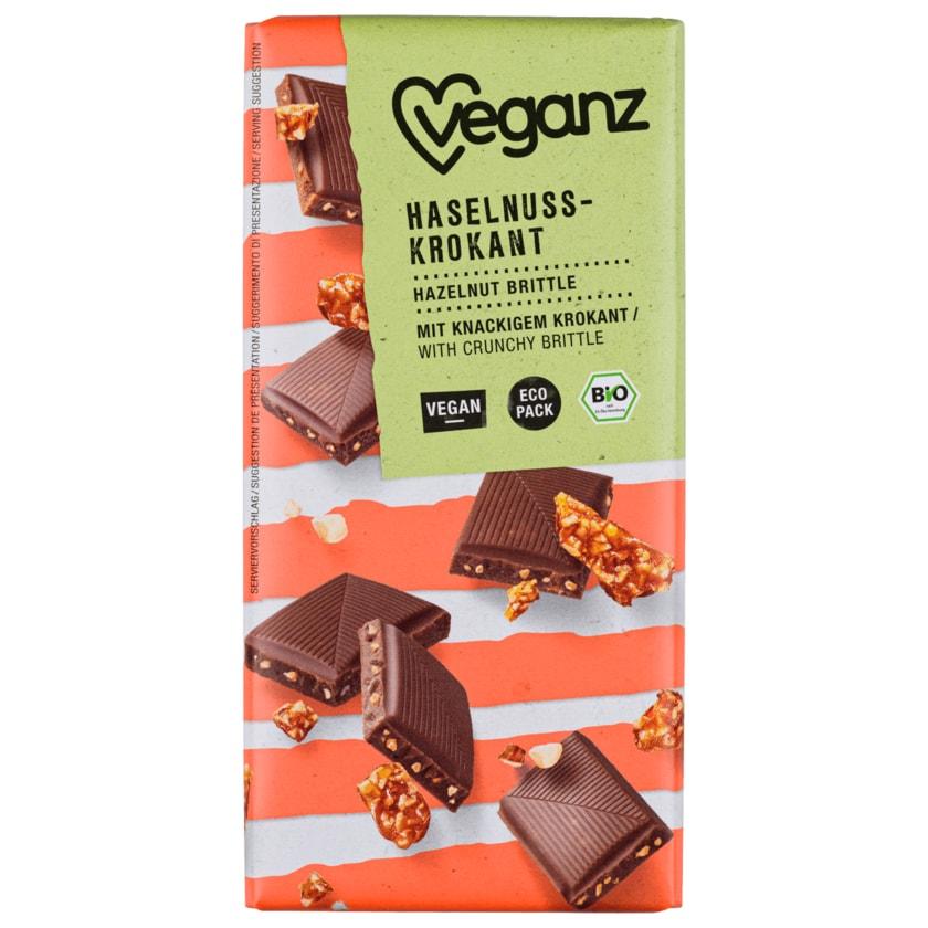 Veganz Bio Haselnusskrokant Schokolade vegan 80g