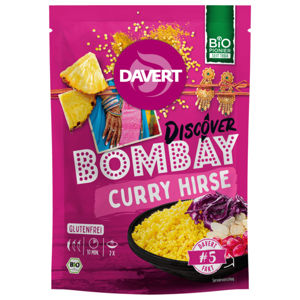 Davert Discover Bombay Curry Hirse 130g