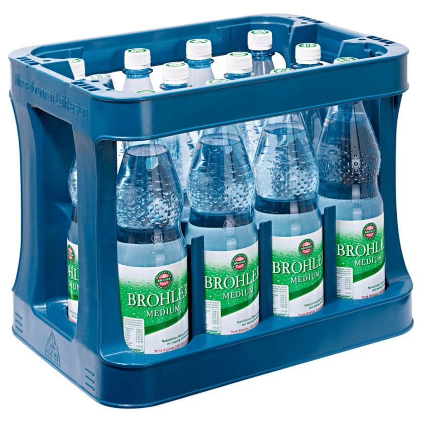 Brohler Mineralwasser Medium 12x1l