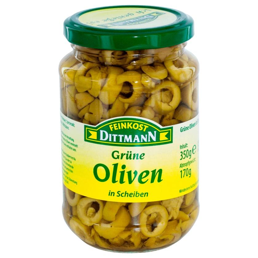 Feinkost Dittmann Oliven grün in Scheiben 170g