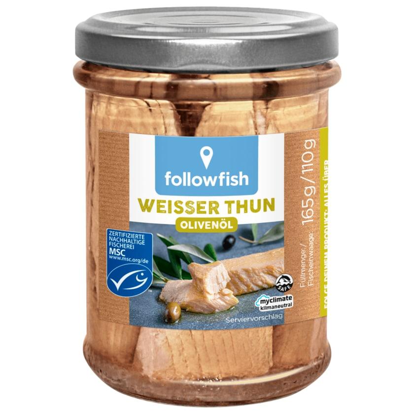 Followfísh MSC Weißer Thunfisch in Bio-Olivenöl 165g