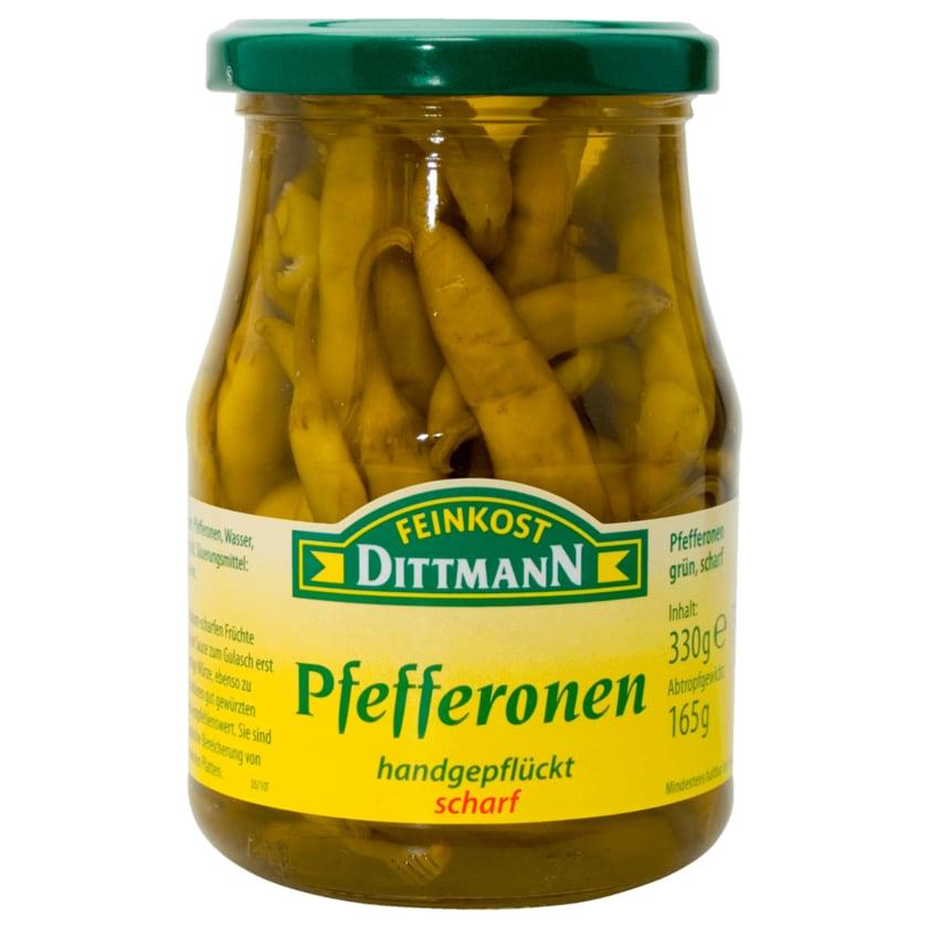 Feinkost Dittmann Grüne Pfefferonen scharf 165g