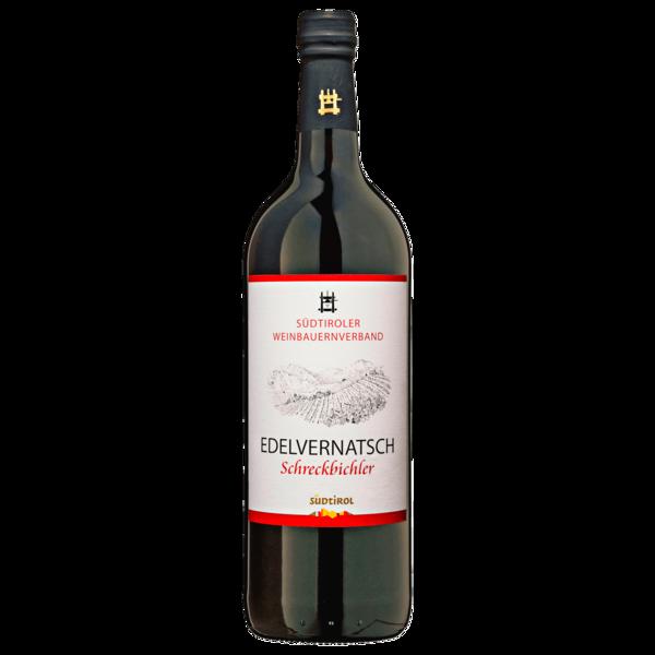 Südtiroler Weinbauernverband Rotwein Edelvernatsch Schreckbichel trocken 1l