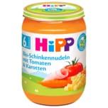 Hipp Bio Schinkennudeln mit Tomaten & Karotten 190g