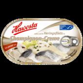 Heringsfilets in Champignon-Creme