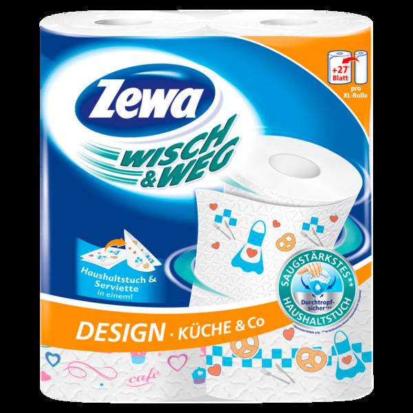 Zewa Wisch& Weg Küchenrolle Design 2×72 Blatt bei REWE online bestellen!