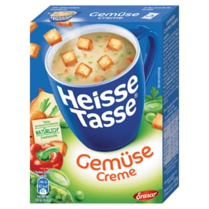 Erasco Heisse Tasse Gemüse-Creme mit Croûtons 3x150ml