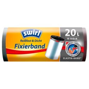 Swirl Müllbeutel mit Fixierband 20l, 15 Stück