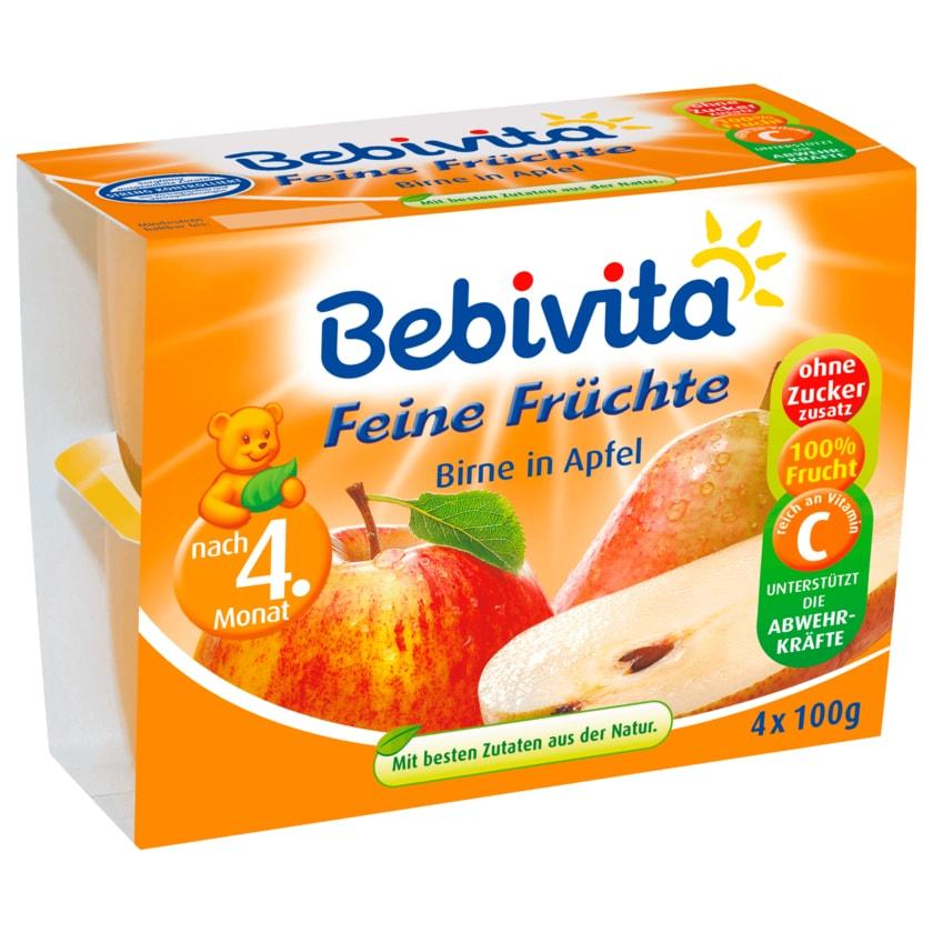 Bebivita Feine Früchte Birne in Apfel 4x100g
