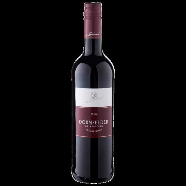 Dornfelder Rotwein QbA halbtrocken 0,75l