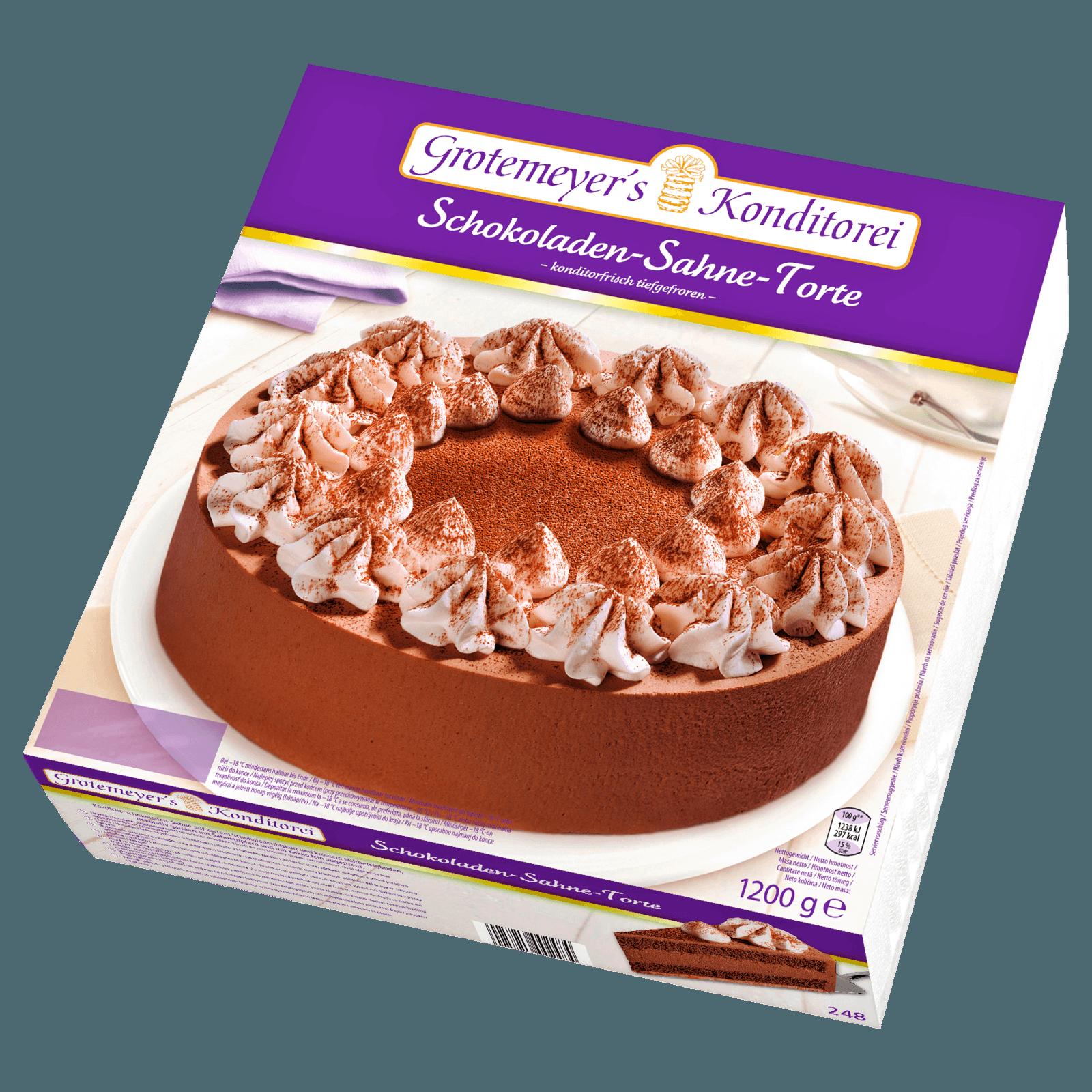 Grotemeyer Schoko Sahne Torte 1 2kg Bei Rewe Online Bestellen