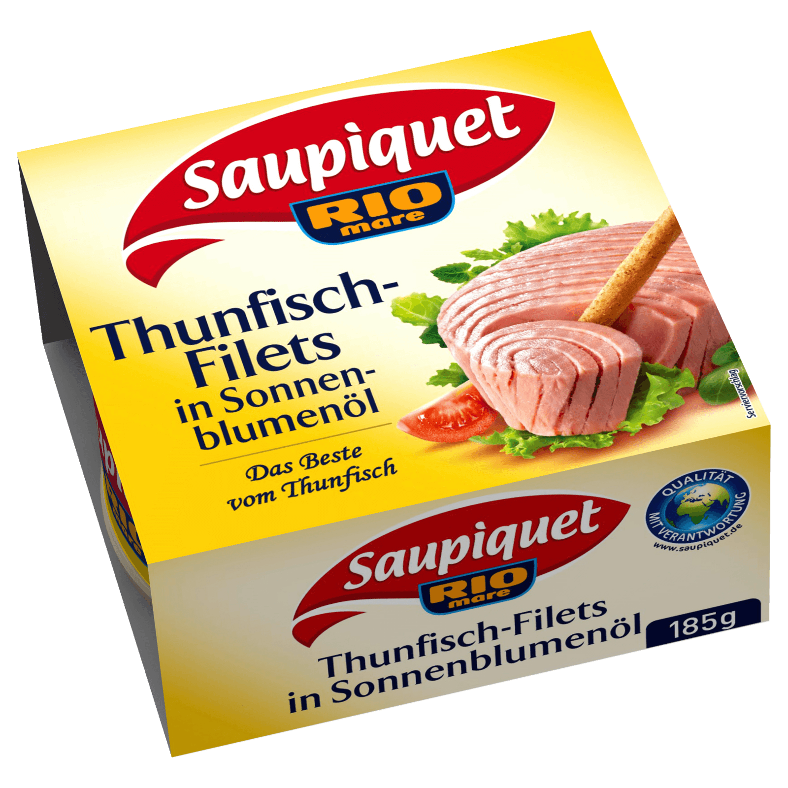 Saupiquet Thunfisch-Filets in Sonnenblumenöl 130g