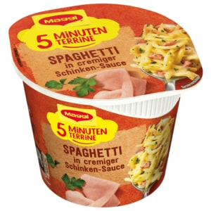 Maggi 5 Minuten Terrine Spaghetti in cremiger Schinkensauce 64g