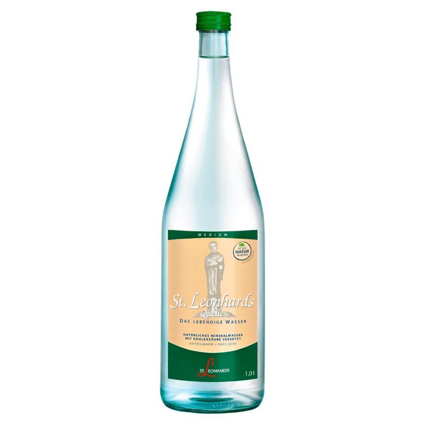 St. Leonhards Quelle Mineralwasser Medium 1l