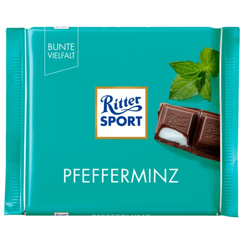 Ritter Sport Schokolade Pfefferminz 100g