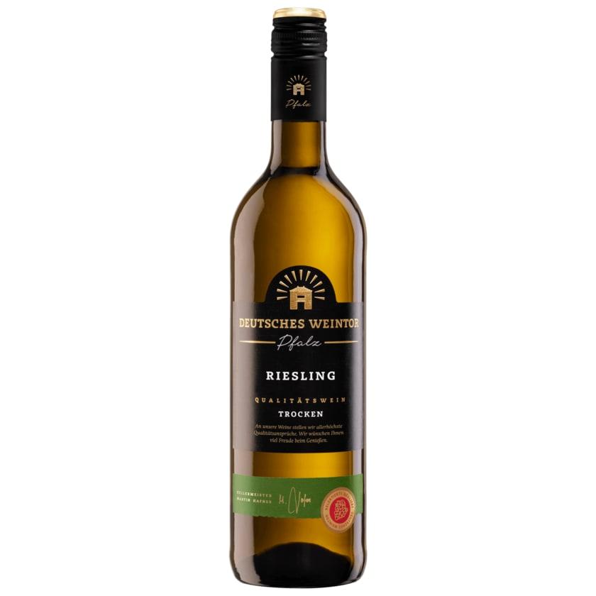 Deutsches Weintor Weißwein Riesling Pfalz QbA trocken 0,75l