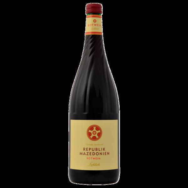 Republik Mazedonien Rotwein lieblich 1l