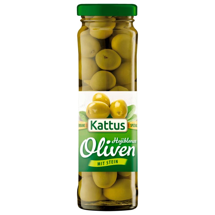 Kattus Spanische große Oliven mit Stein 85g