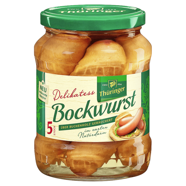 EWU Thüringer Delikatess Bockwurst 400g, 5 Stück