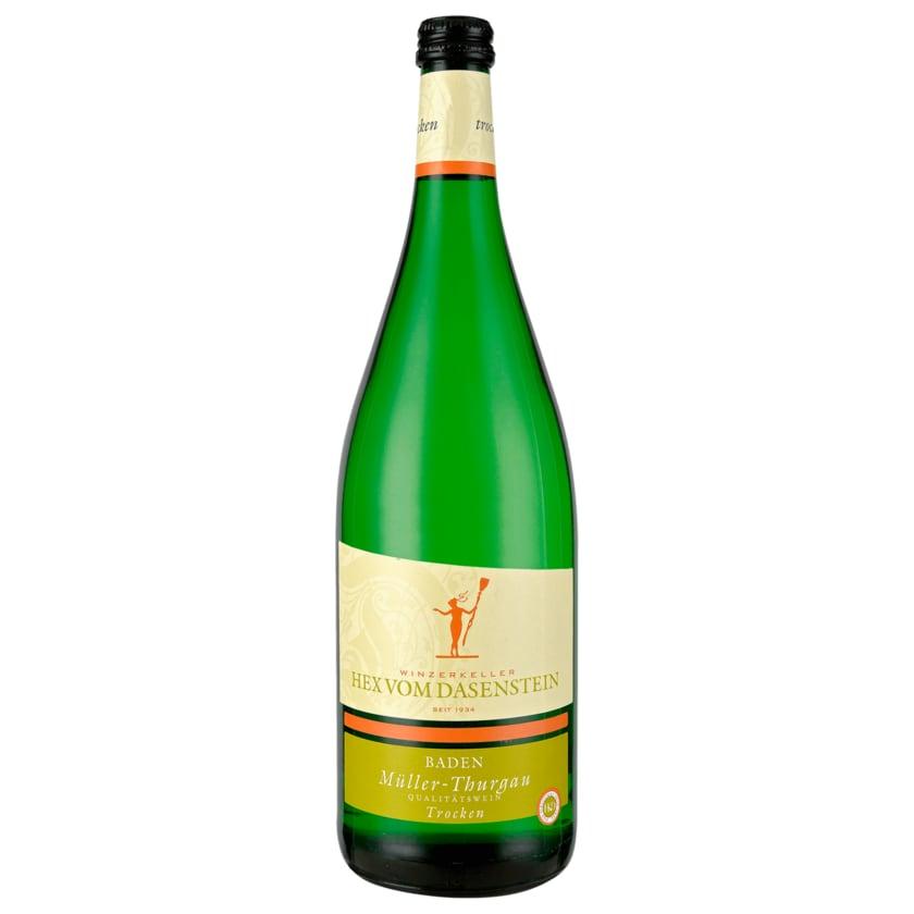 Hex vom Dasenstein Weißwein Müller-Thurgau QbA trocken 1l