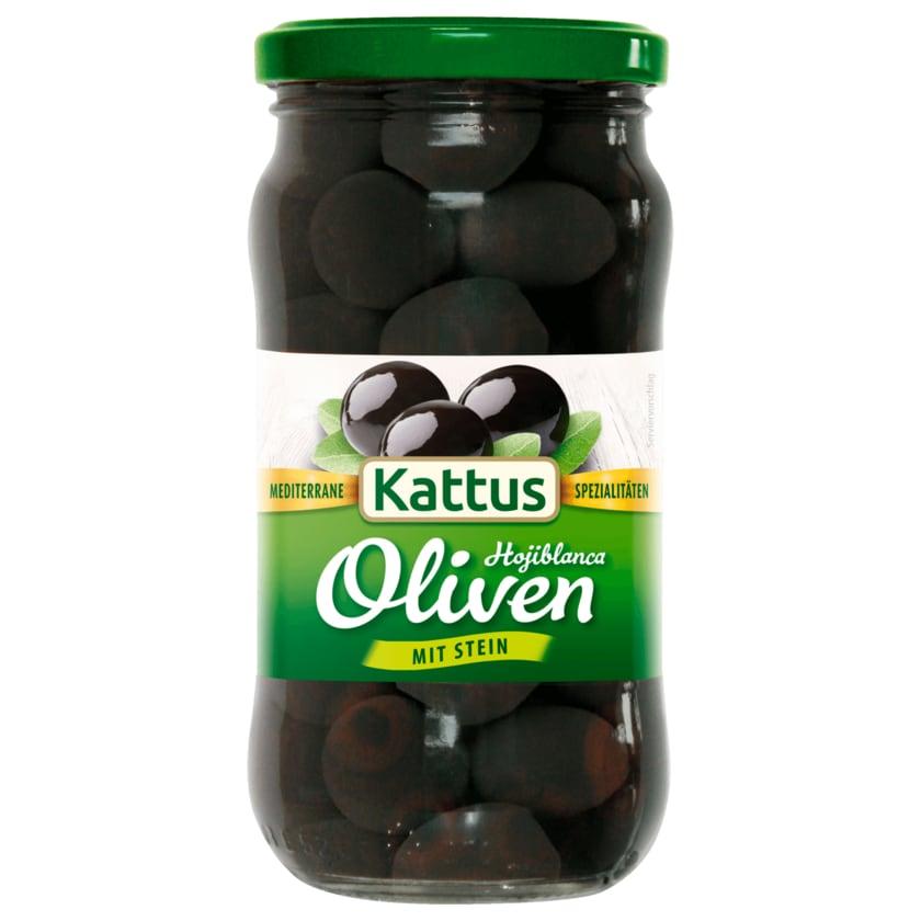 Kattus Schwarze Oliven mit Stein 200g