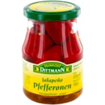 Feinkost Dittmann Rote Jalapeño-Pfefferonen scharf 180g