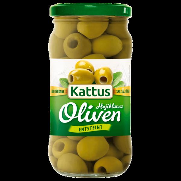 Kattus Spanische grüne Oliven entsteint 160g