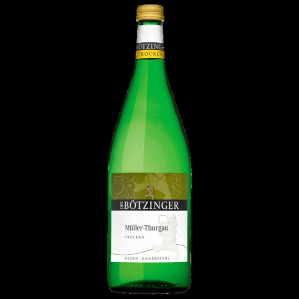 Der Bötzinger Weißwein Müller Thurgau QbA trocken 1l