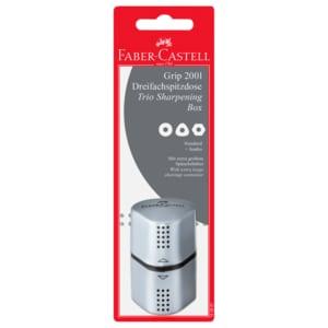 Faber-Castell Dreifachspitzdose Grip 2001 silber