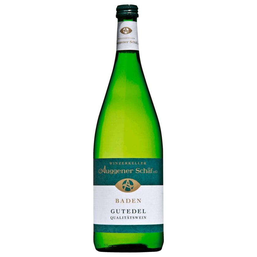 Auggener Schäf Weißwein Gutedel QbA halbtrocken 1l