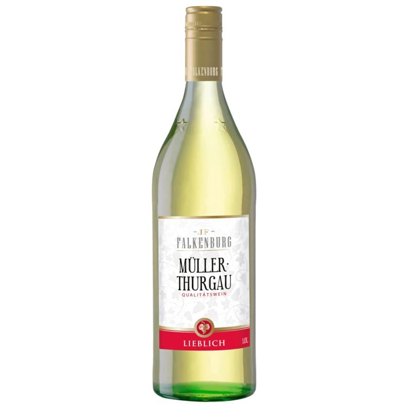 Falkenburg Weißwein Müller-Thurgau QbA lieblich 1l